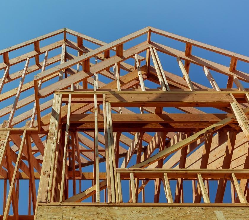 Szkielet budowy dachu
