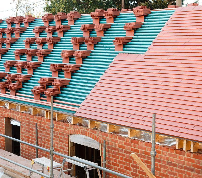 Niewykończony dach